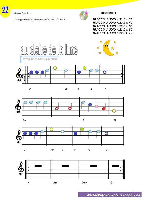 si e free suoniamo au de la lune spartito e base musicale
