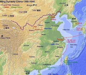 Ming dynasty map and geography (www.chinaknowledge.de)
