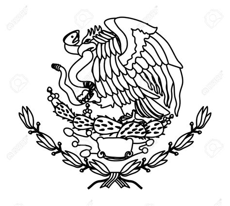 Mexican Flag Eagle Drawing Easy Step By Step