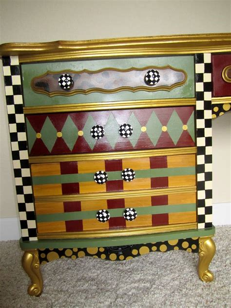 on sale provincial vintage desk painted funky