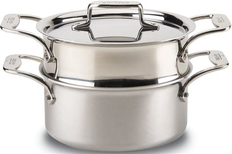 all clad d5 stainless all clad d5 brushed stainless steel 5 ply 3 quart