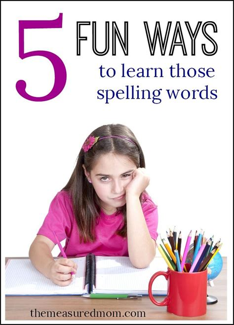 No More Writing Words Five Times Each Try These Fun