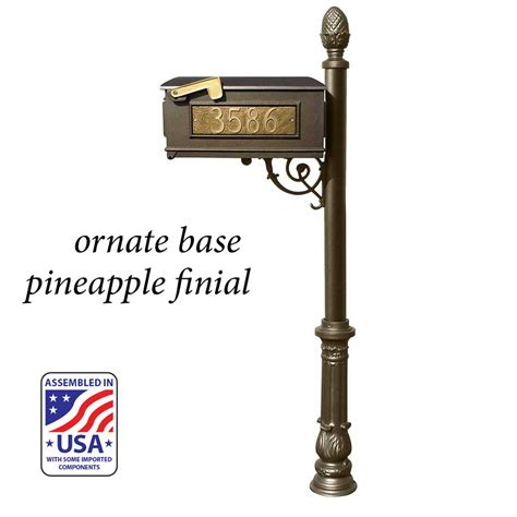 Better box mailbox paper box add on. Personalized House Number Mailbox and Post with Scroll Bracket, Decorative Finial, and Base