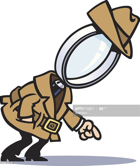 detective cartoon magnifying glass vector clip magnifier illustrations sherlock holmes illustration investigation cartoons clipart graphics royalty shape istock graphic crime