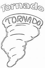 Tornado Coloring Pages Hand Drawing Printable Print sketch template