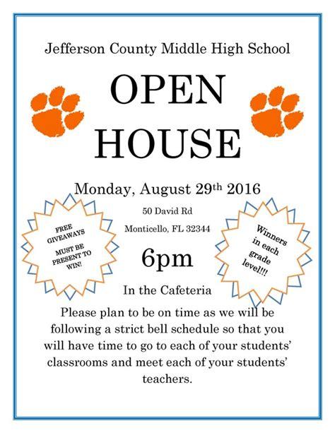 middlehigh school open house jefferson county school district