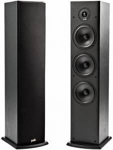 Polk Audio T50 Floor Standing Tower Speakers Set Black
