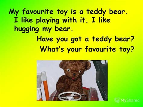 Short essay on my favourite toy teddy bear
