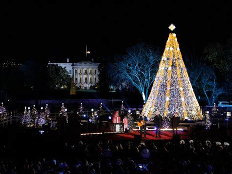 visiting national christmas tree at night national tree lighting