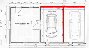 merveilleux construction garage parpaing plan 6 With plan de garage en parpaing