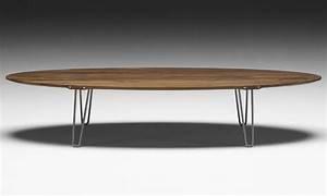 Table Basse Ovale Blanche : table basse ovale bois pas cher design en image ~ Teatrodelosmanantiales.com Idées de Décoration