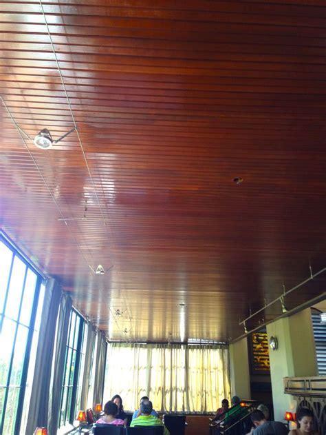 5/8 x 4 clear Douglas fir beaded ceiling at Maynard's