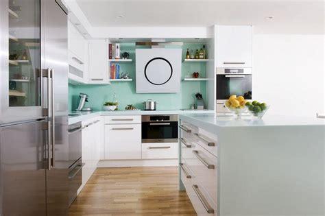 cuisine blanche et verte couleur pour cuisine 105 idées de peinture murale et façade