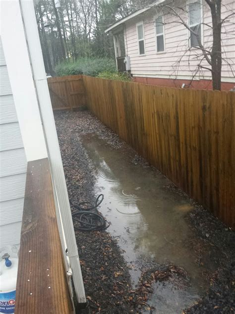 drainage issues in backyard drain backyard drainage issues home improvement stack exchange