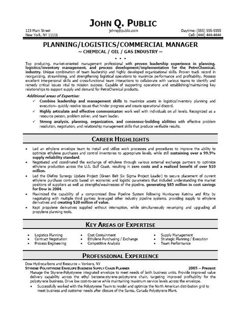 Transportation Resume Writers by Logistics Resume Sle Sle Resume