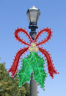 christmas light pole decorations bows how to santa claus and