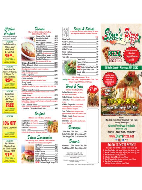 pizza menu template   templates   word excel