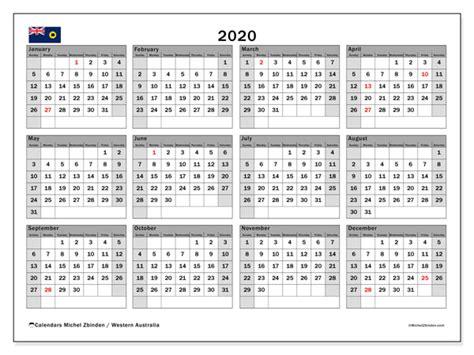 calendar western australia australia michel