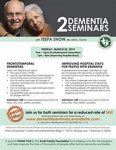 Frontotemporal Dementia Seminar with Expert Teepa Snow in ...