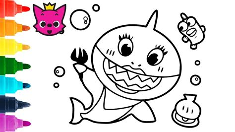 Mommy Shark Coloring Pages Pinkfong Coloring Book YouTube