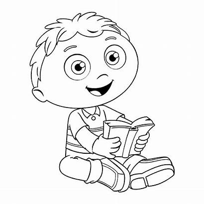 Coloring Super Why Pages Cartoon Wyatt Colouring