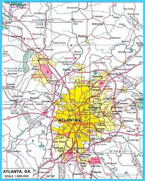 cool map  atlanta georgia atlanta ga   atlanta