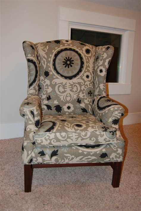 Reupholstering Fabric by How To Reupholster A Wingback Chair Diy Project Aholic