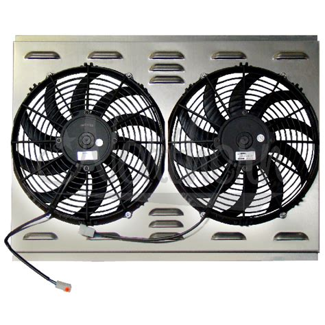 dual electric fans with shroud northern factory dual 12 quot electric fan shroud 17 1 2