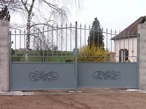 Portail Fer Forgé Plein : portail fer forge demi ajoure charollais brionnais ~ Dailycaller-alerts.com Idées de Décoration