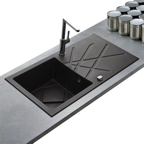 evier cuisine noir 1 bac evier de qualit 233 en granit noir de la marque kumbad curuba 1 bac