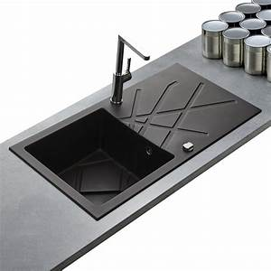 Evier Noir 1 Bac : evier de qualit en granit noir de la marque kumbad curuba ~ Dailycaller-alerts.com Idées de Décoration