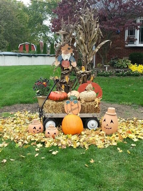 fall yard decorations laurensthoughtscom