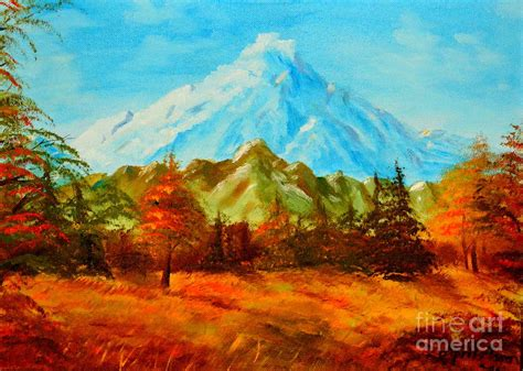 Mountain Scene Painting By April Held