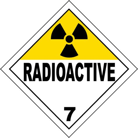 Radioactive Class 7 Placard K5633  By Safetysignm. Safety Checklist Signs Of Stroke. Carcinogen Signs. Donation Signs Of Stroke. Food Allergy Signs. Traffic Bangalore Signs Of Stroke. Motion Clipart Signs. Canna Pet Signs. Self Esteem Signs