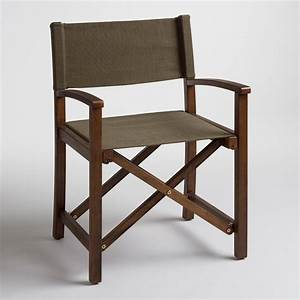 Olive ryker director chair canvas cover world market for Outdoor furniture covers world market