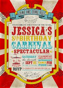 Free Printable Birthday Invitations For Adults Carnival Party Invitation
