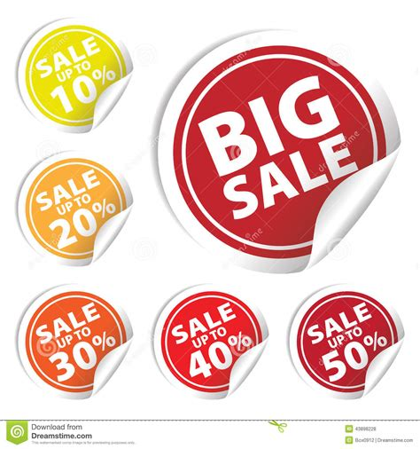 Big Sale Tags With Sale Up To 10  50 Percent Text On