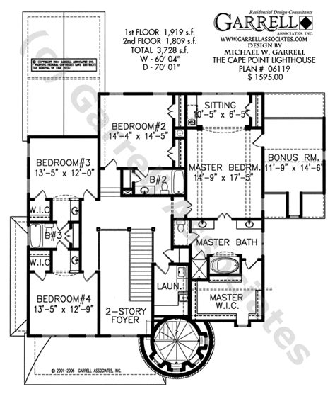 lighthouse floor plans cape point lighthouse plan house plans by garrell