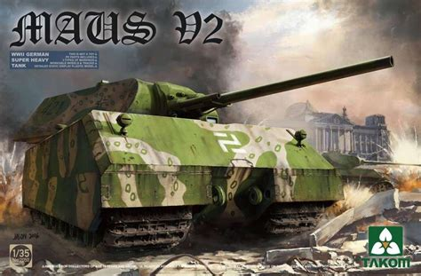 German super heavy tank Maus V2 1-35 - Modeledo.pl