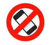 Afbeeldingsresultaten voor verboden mobiele telefoons