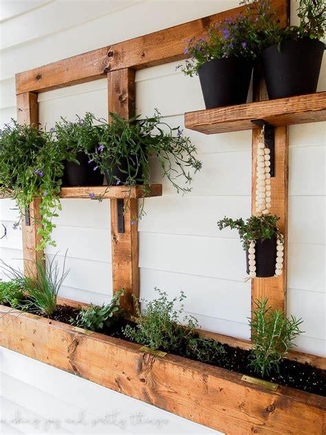 hanging wall garden diy vertical herb garden and planter 2x4 challenge