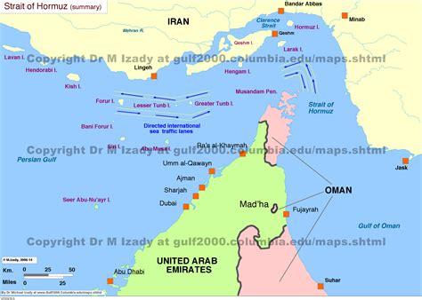 strait  hormuz maps  gulf project sipa
