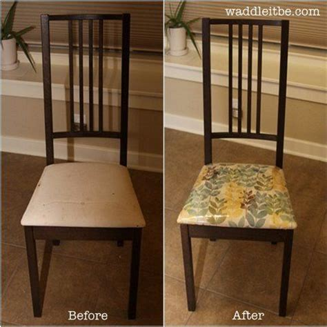 How To Clean Dining Room Chairs - reupholster those ikea chairs with fabric and easy to