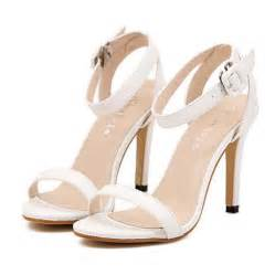 high wedding dresses strappy sandals white strappy sandals heels