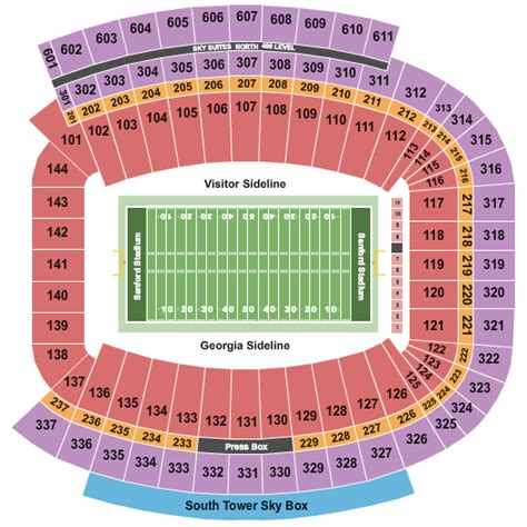 sanford stadium seating chart athens