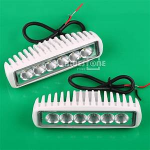 White spreader led marine lights set of for boat