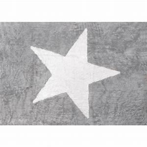 Tapis Enfant Etoile : tapis enfant coton toile blanche lilipouce ~ Teatrodelosmanantiales.com Idées de Décoration
