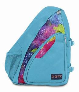 Jansport Air Cisco Sling Backpack Multi Neon Galaxy