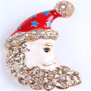 moon brooch christmas jewelry christmas brooches cute kids brooch christmas holiday gift special