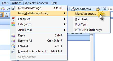 working  message templates howto outlook